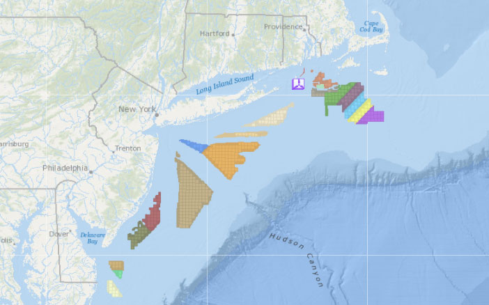 Offshore Wind Planning Areas, Lease Areas & Operational Installations