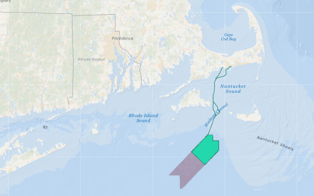 Vineyard Wind 1 – Lease Area & Proposed Project Envelope and Cable Routes