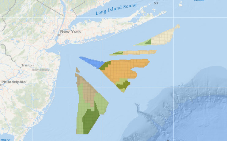 New York Bight – Planning Areas and Lease Area