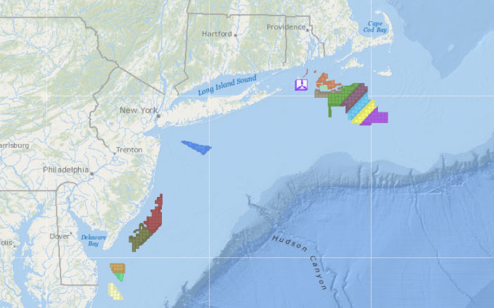Offshore Wind Lease Areas & Operational Installations