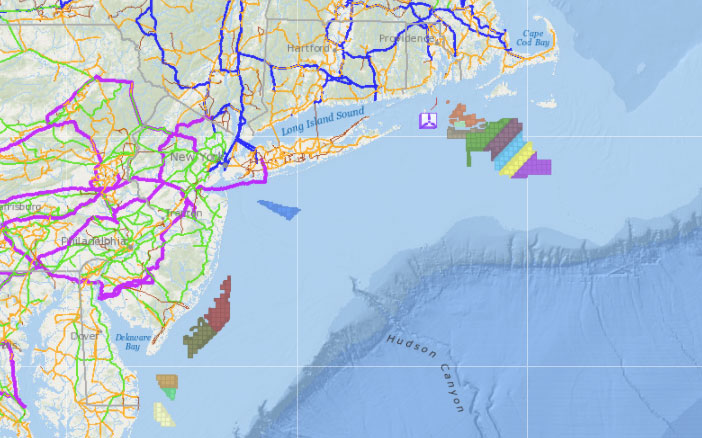 Offshore Wind Lease Areas, Operational Installations & Electrical Transmission Grid