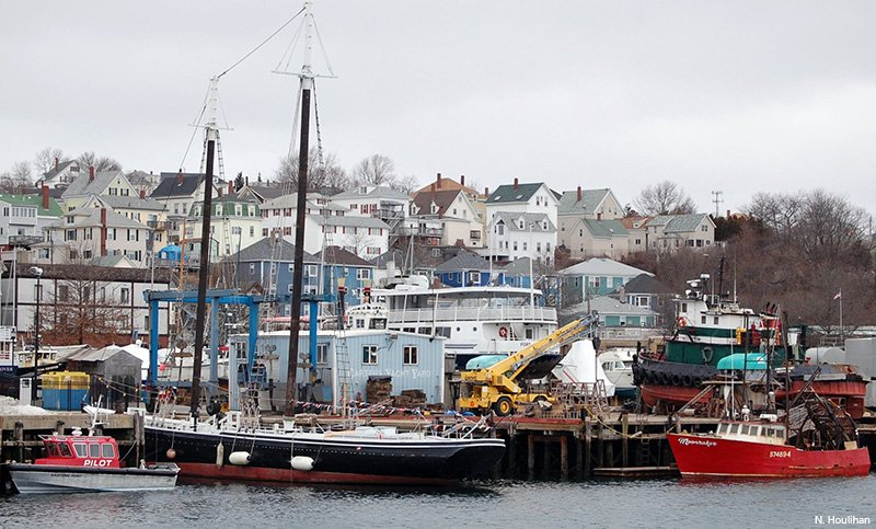 The shellfish farm is located 14 nautical miles off the fishing port of Gloucester, Massachusetts.