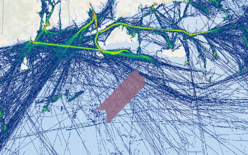 Vineyard Wind 1 Draft Environmental Impact Statement (DEIS) – Fishing Vessel Activity (Transit Counts in July 2016)