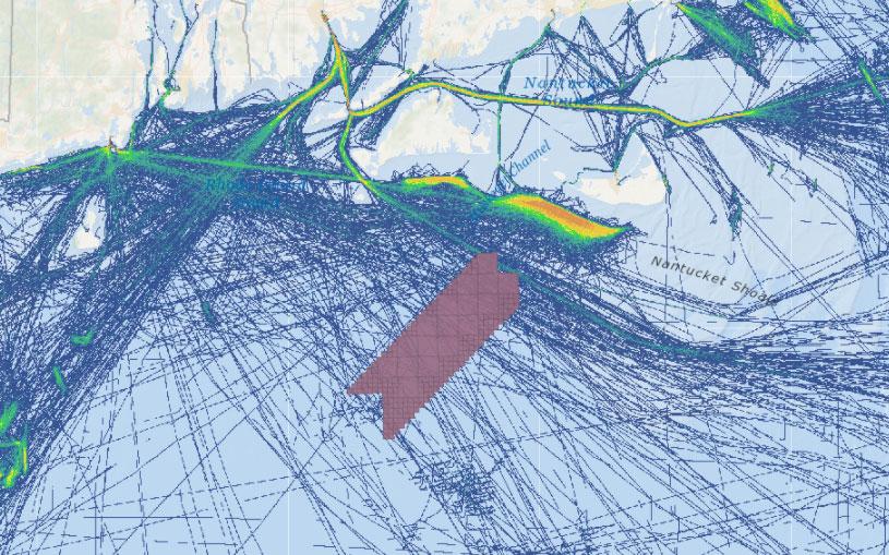 Vineyard Wind 1 Draft Environmental Impact Statement (DEIS) – Fishing Vessel Activity (Transit Counts in July 2017)